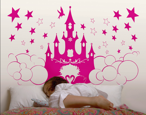 Illustration as headboard